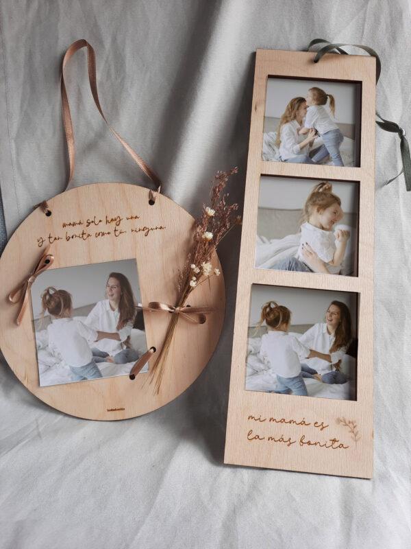 Placa redonda portafotos para el día de la madre