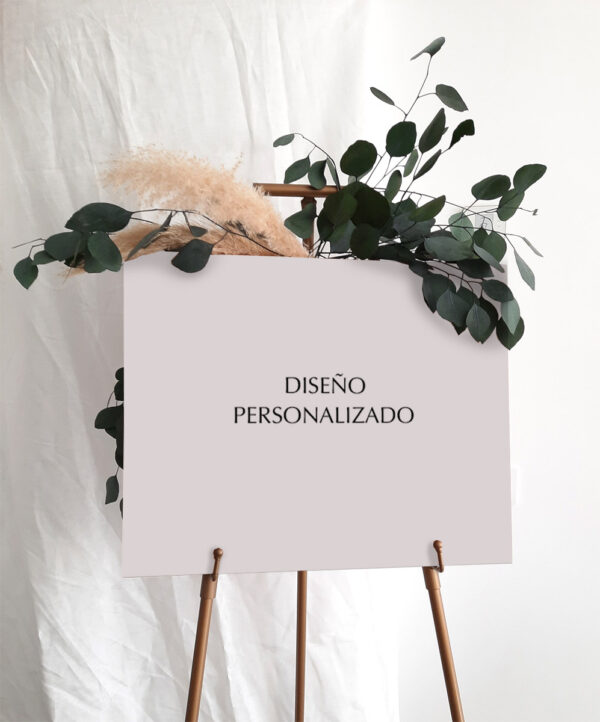 Cartel boda - Diseño personalizado